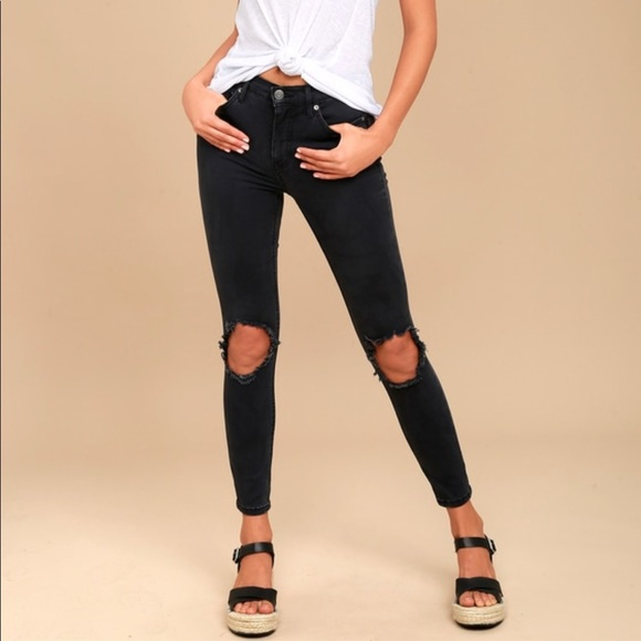 d22cf3db337 Free People high rise busted knee skinny jeans